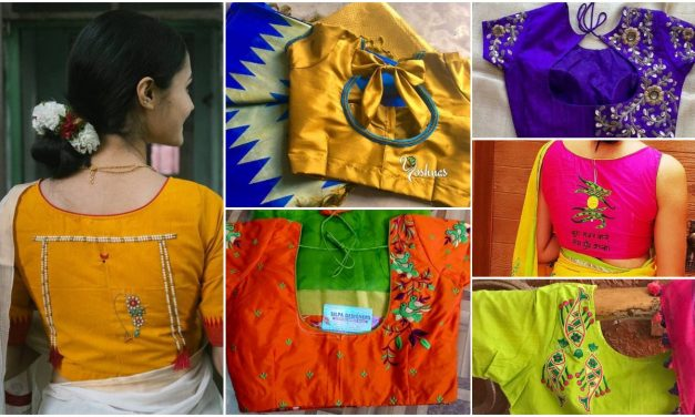 Trendy saree designer blouse ideas