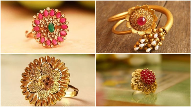 latest simple gold ring design for girls