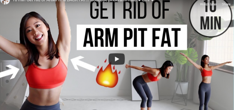 10 min get rid of armpit and back fat