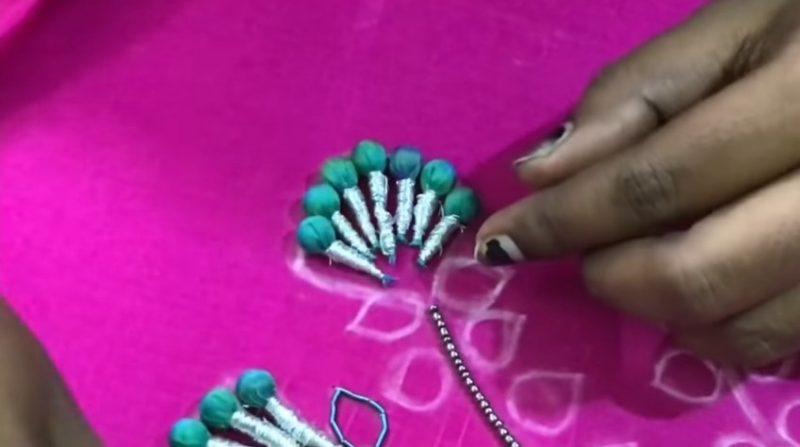 Potli flower embroidery