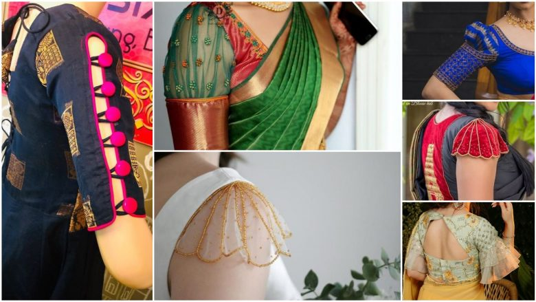 Beautiful saree blouse sleeve designs