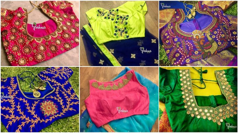 Best creative designs for saree blouses
