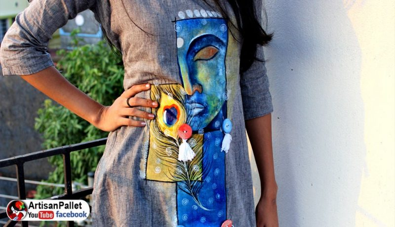 Fabric Painting on Dress