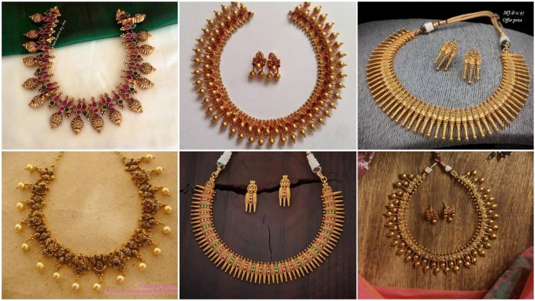 south indian necklace designs