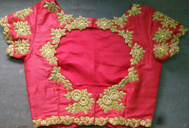 New sari blouse neck