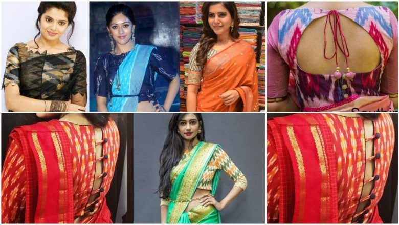 Rock your sarees with ikat blouses