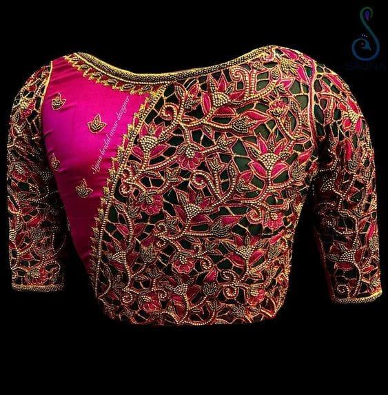 cutwork blouse