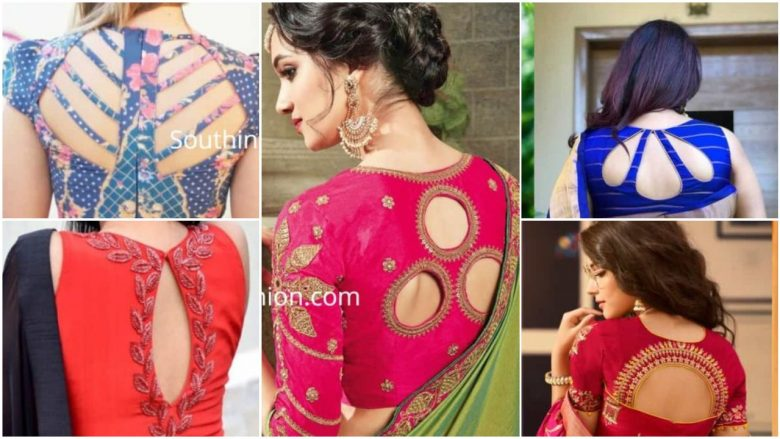 Cut out saree blouse designs