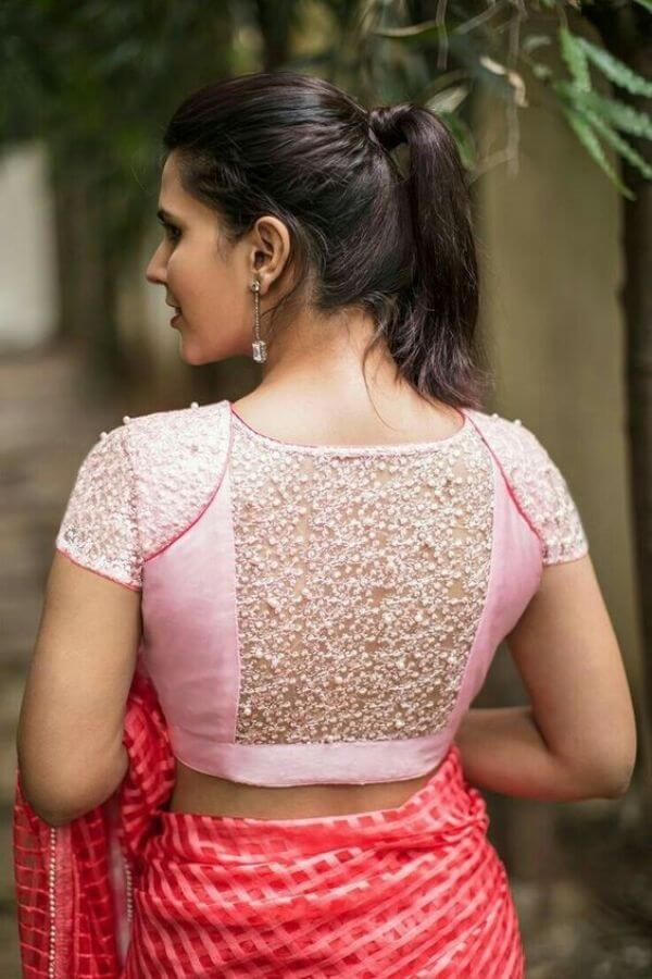 Latest Back Net Blouse Designs For Lehenga And Saree 2020 Simple Craft Ideas