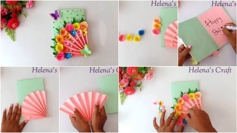 Beautiful handmade birthday card