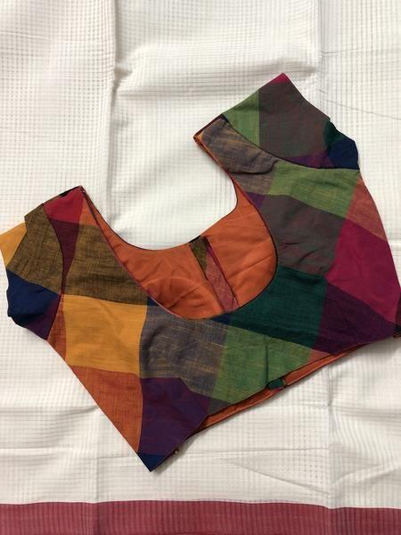 Trendy saree designer blouse