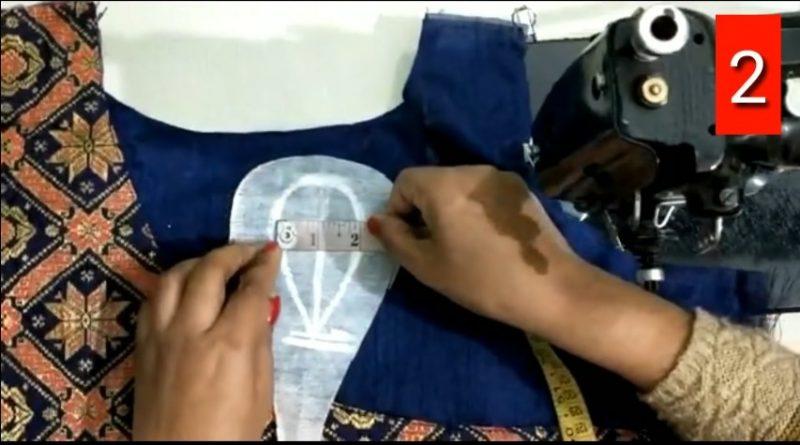 Boat neck designer blouse