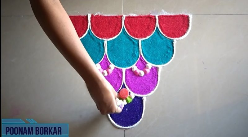 attractive rangoli