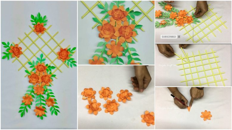 How To Make Wall Hanging Decoration With Paper Simple Craft Ideas