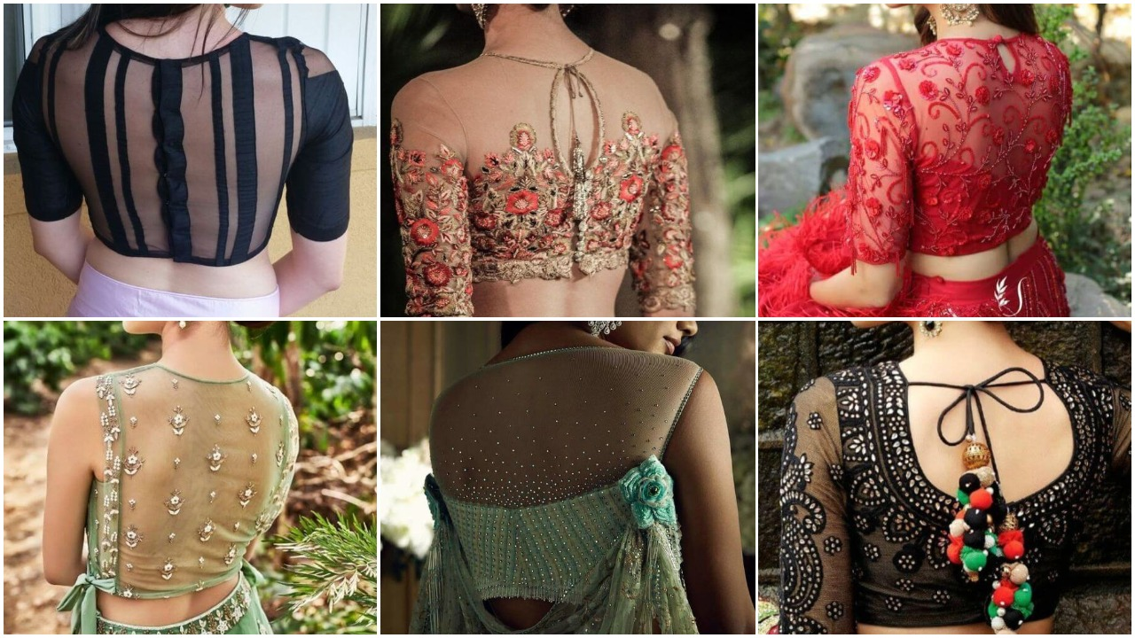 Latest Back Net Blouse Designs For Lehenga And Saree Simple Craft Ideas,Sample Game Design Document Example