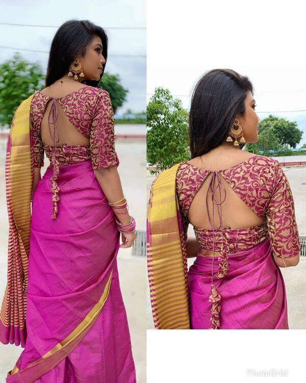 Blouse Back Neck Designs
