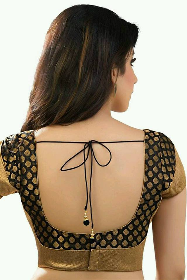 Trendy Blouse Back Neck