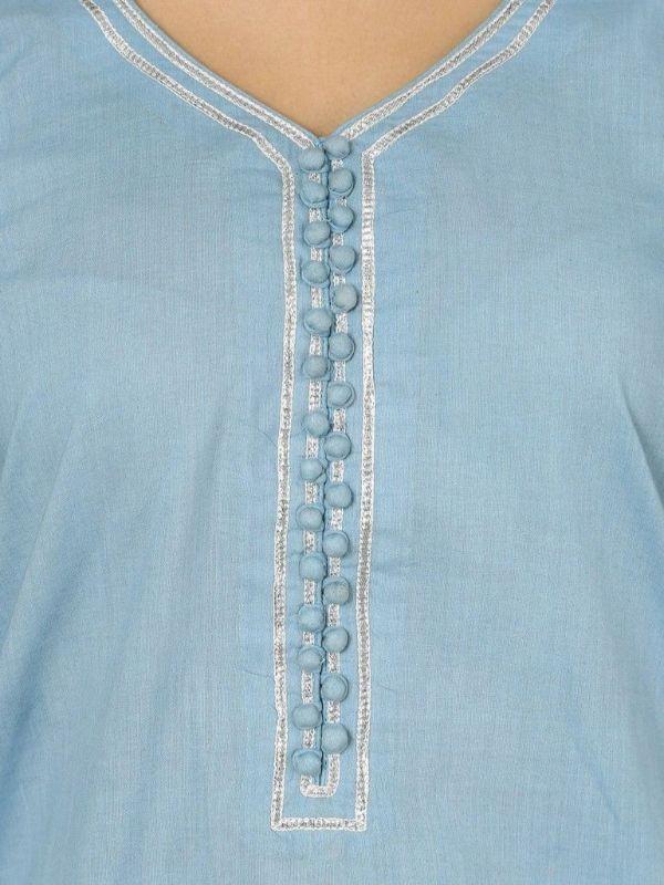 Potli Button Neck Designs