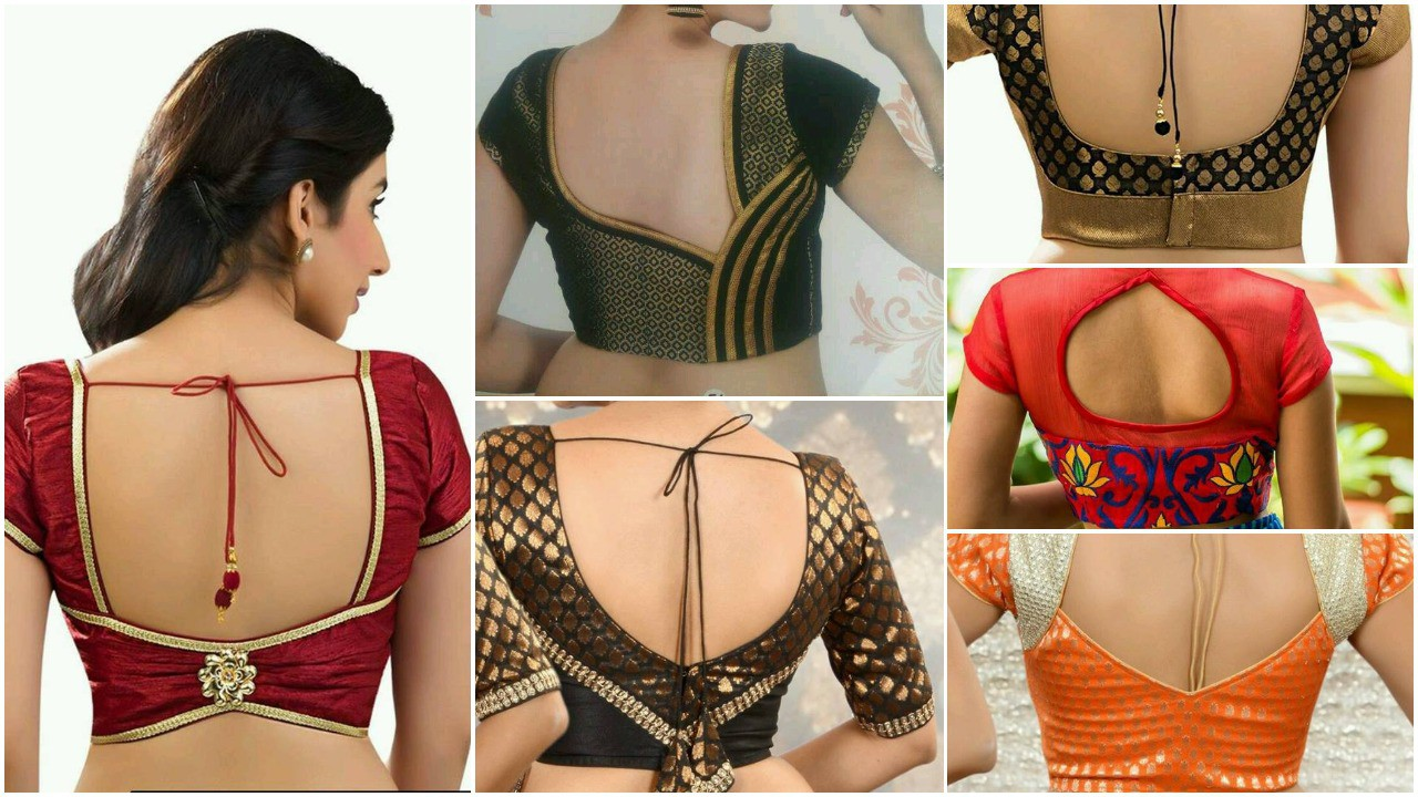 Stylish And Trendy Blouse Back Neck Designs Simple Craft Ideas