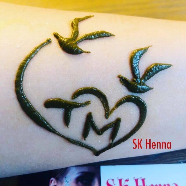 Henna Heart Tattoo