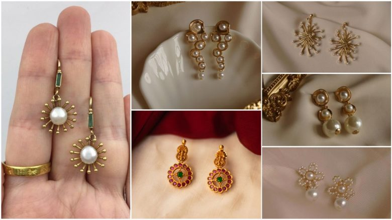 gold latkan earrings