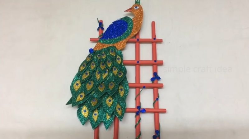 Diy peacock wall decorations