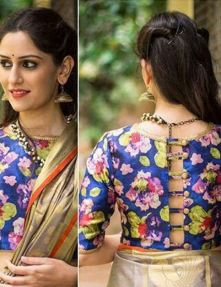 Printed Blouse Designs