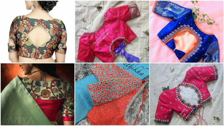 blouse designs neck photos