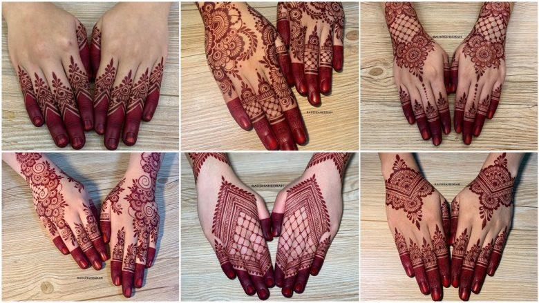 Elegant henna mehndi designs for hand