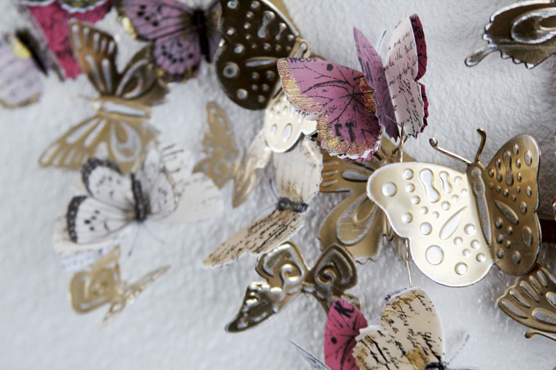 Aluminum Butterfly Wreath