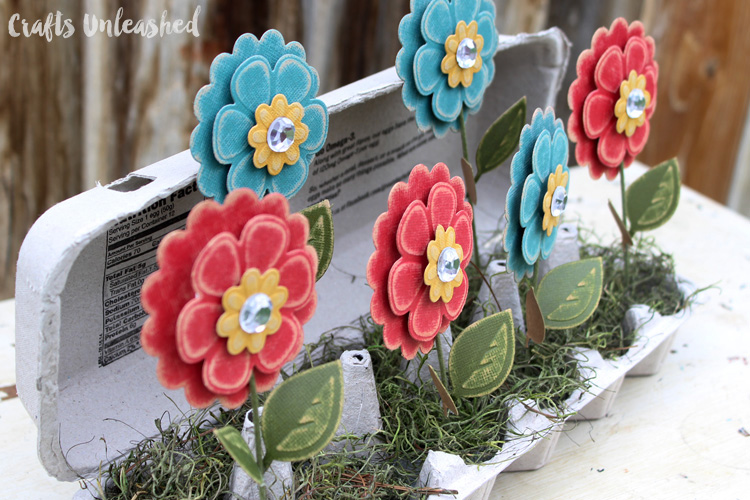 Egg Carton Craft Flower Box