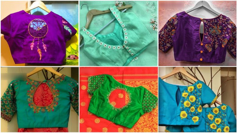 simple work blouses images
