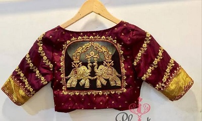Heavy Designer Saree Blouse