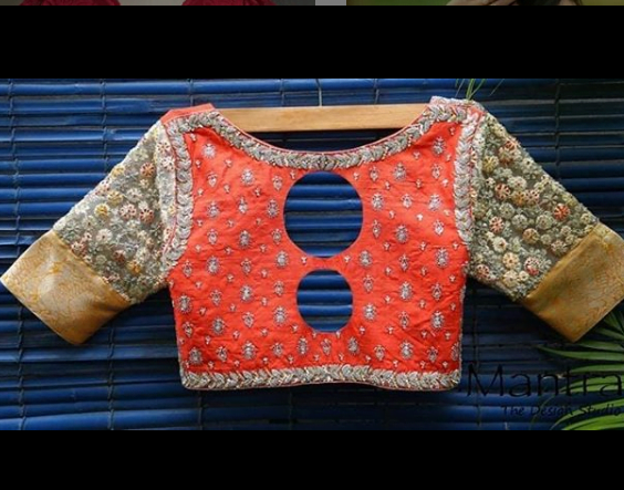Latest blouse backneck design