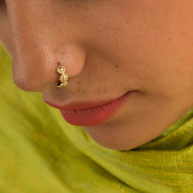 Gold nose ring design