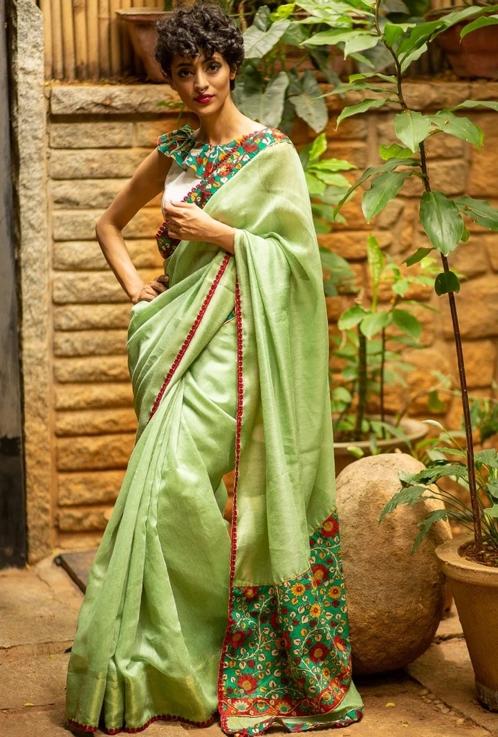Saree With Matching Face Mask