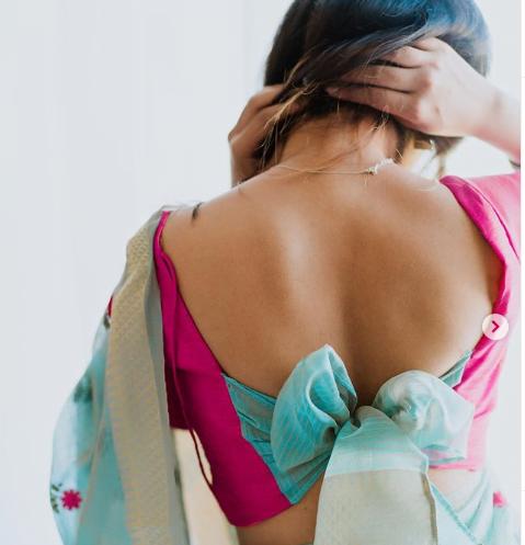 Latest blouse back neck