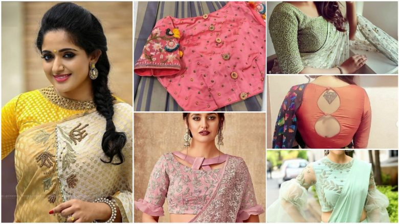 Stylish net blouse designs