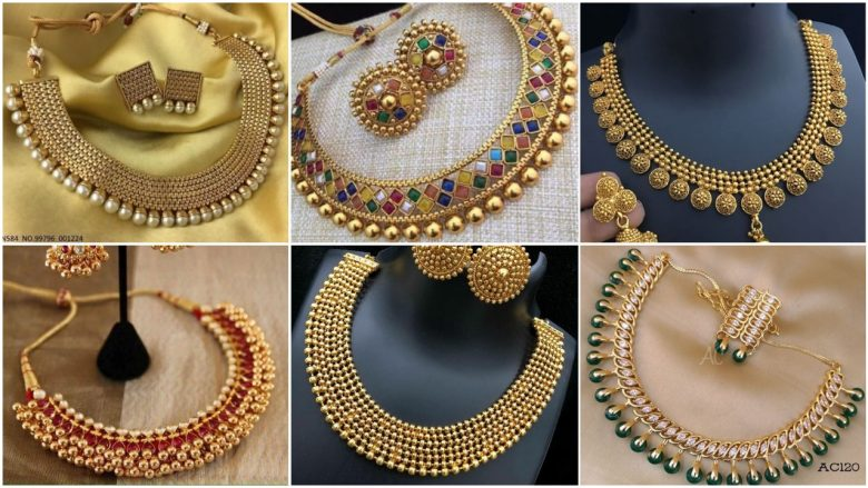 gold necklace images
