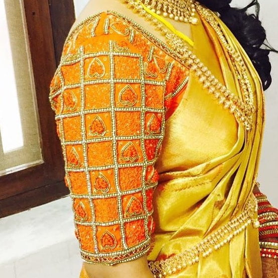 Orange Blouse Designs