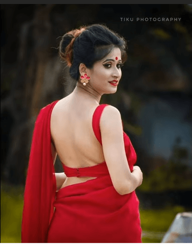 Red Blouse Neck
