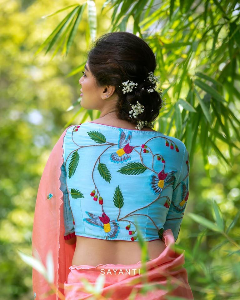blouse back neck designs 5