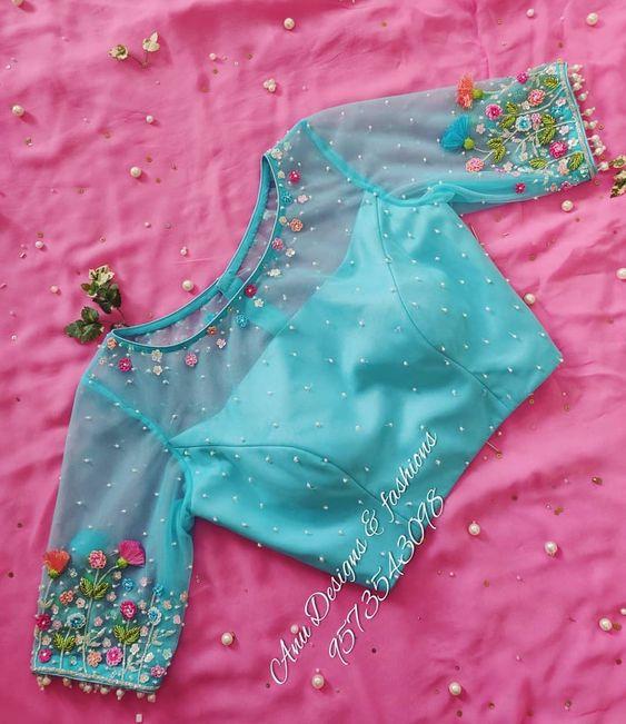 trendy designer blouses 2 1