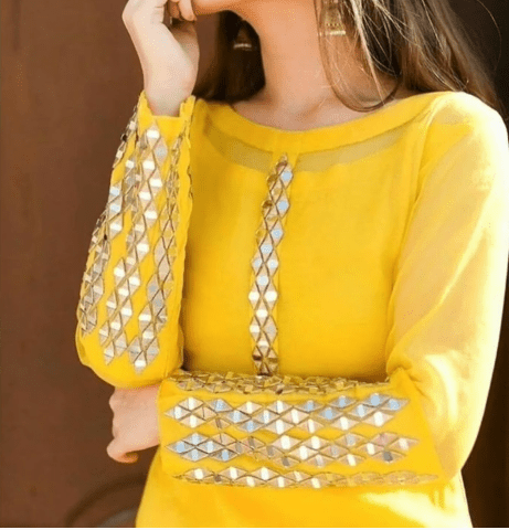 Mirror work kurti design