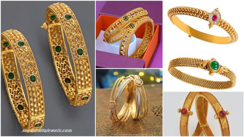 Latest gold bangle design with image