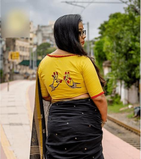 Handloom blouse design