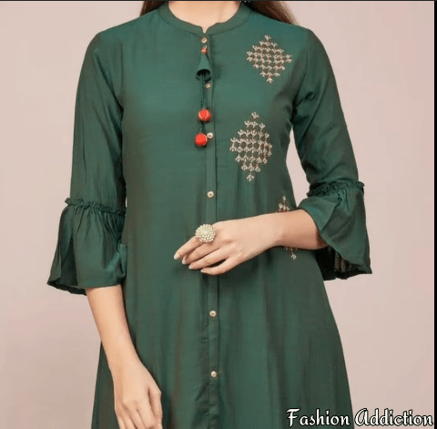 Beautiful Sleeve Design For Kurti