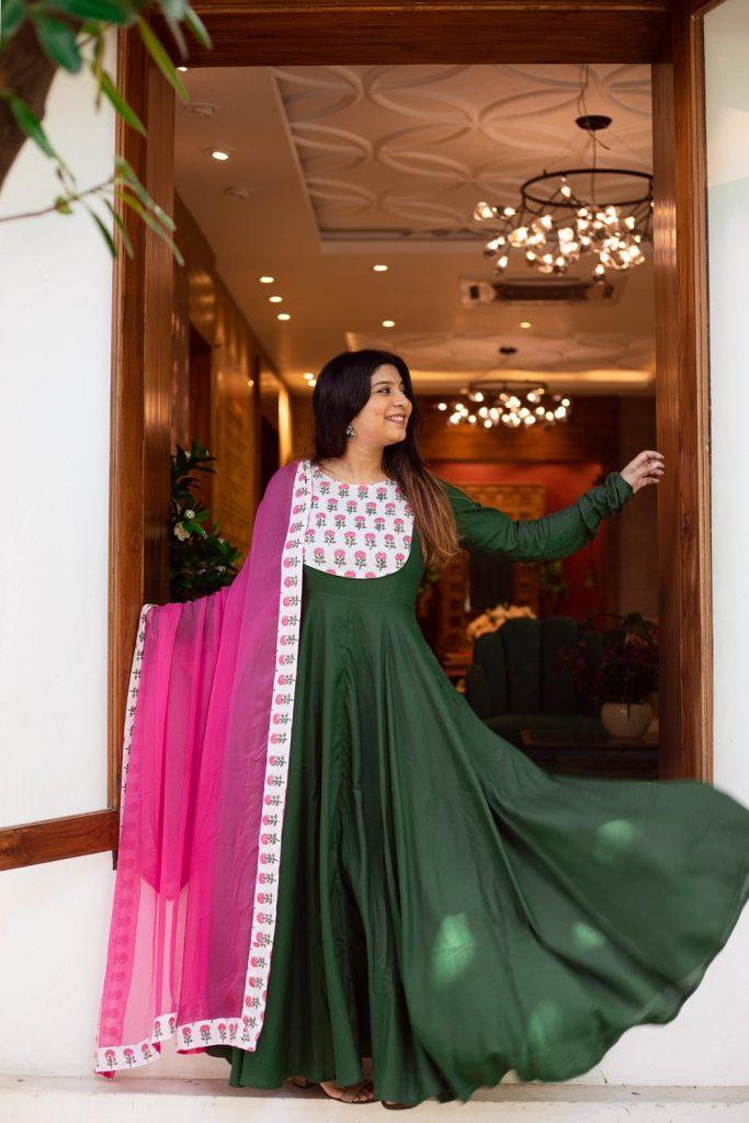 Simple long kurti design