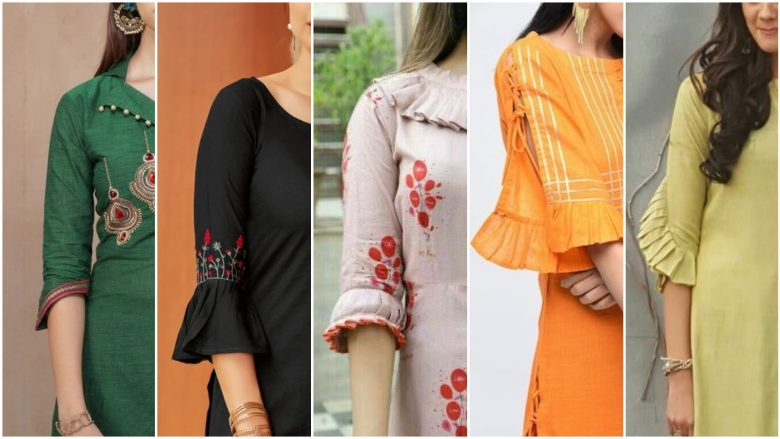 Latest sleeves designs for kurti 2020