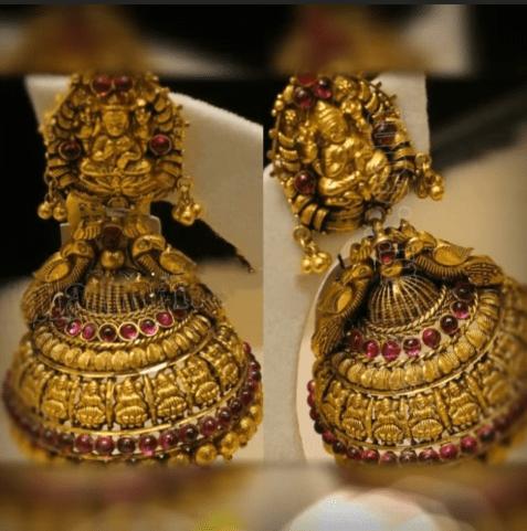 Antique Gold Jhumka